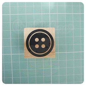 Carimbo Artesanal - Botão 3x3cm