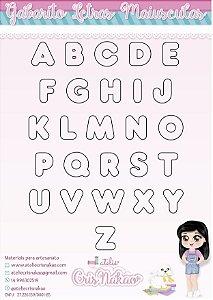 Molde Durável em Acetato - Alfabeto