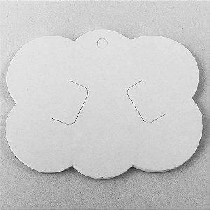 Tag nuvem papelão para bico de pato e laços 09x6,5cm - 10 unidades