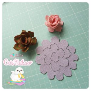 Recortes Em Feltro Espirais para Rosas 9cm - Modelo  6 (Fica Aprox 5cm) - 6un
