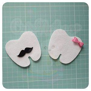 Recorte em feltro - Dentinhos para chaveiro ou guirlanda  - 10un