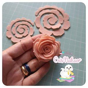 Recortes Em Feltro Espirais para Rosas 7cm - Modelo  8 (Fica Aprox 3,5cm) - 10un