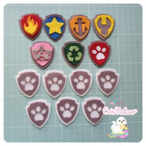 Recortes em Feltro - Kit Patrulha canina - 14 emblemas