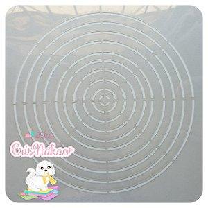 Molde durável em Acetato 0,3 -  Círculos
