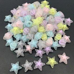Estrela com miolo 17mm em acrilico - 10un