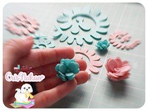 Recortes Em Feltro Espirais para Rosas 7cm - Modelo  9 (Fica Aprox 3cm) - 10un