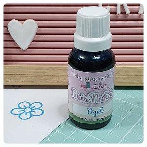 Tinta para Carimbo - Cor Azul  - 30ml