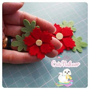 Recortes em Feltro - Flores de Natal - 10un