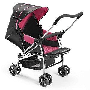 Carrinho de Bebê Berço Flip Rosa - Multikids