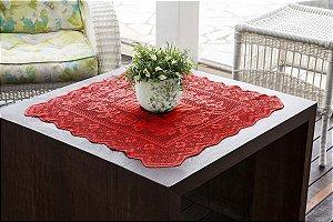 Toalha Quadrada Color Vermelha 75CMX75CM 100% Poliester Interlar - 150835