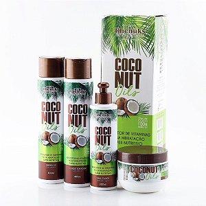 Rhenuks Kit Tratamento Capilar CocoNut Oils 4 Peças