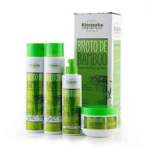 Rhenuks Kit Tratamento Capilar Broto de Bamboo 4 Peças