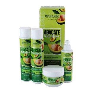Rhenuks Kit Tratamento Capilar Abacate Nutritivo 4 Peças