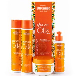 Rhenuks Kit Tratamento Argan Oils 4 Peças