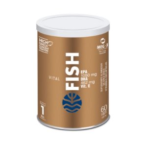 Vital Fish Suplemento Alimentar de EPA e DHA Com Vitamina E Com 60 Cápsulas
