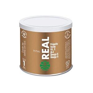 Vital Real Suplemento de Vitamina E com Óleos de Linhaça e Gergelim Com 60 Cápsulas