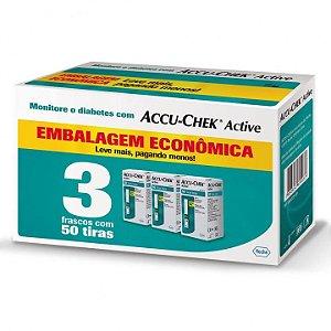 Kit Accu-Chek Active 3 Caixas com 50 Tiras Cada