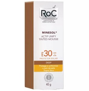 Roc Minesol Actif Unify Tinted Mousse Deep Fps 30 40g
