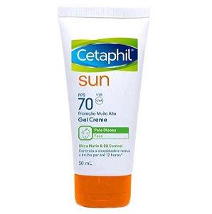 Cetaphil Sun Protetor Solar Fps 70 Gel Creme 50ml Sem Cor