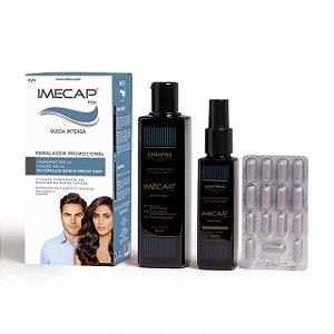 Imecap Hair Queda Intensa Shampoo + Loção + 30 Cápsulas Kit