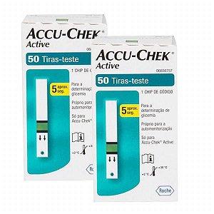 Accu-Chek Active com 50 Tiras Reagentes 2 Unidades Validade 06/2021