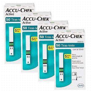 Accu-Chek Active com 50 Tiras Reagentes 4 Unidades Validade 06/2021