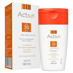 Actsun Protetor Solar Em Loção Fps 30 Corpo E Rosto 120ml