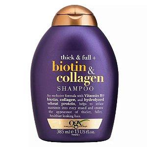 Ogx Shampoo Biotin & Collagen Volumizador 385ml