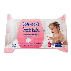 Lenços Umedecidos Johnsons Baby Extra Cuidado Com 48 Unidades
