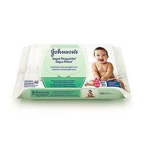 Lenços Umedecidos Johnsons Baby Toque Fresquinho 48 Unidades