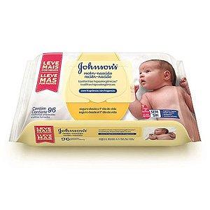 Lenços Umedecidos Johnsons Baby Recém Nascido 96 Unidades