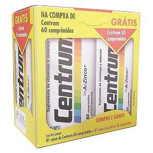 Centrum De A A Zinco Com 60 Comprimidos + 30 Gts