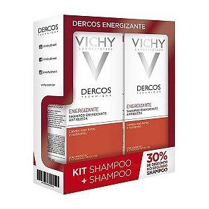 Shampoo Dercos Energizante Antiqueda 200ml Vichy Kit Com 2