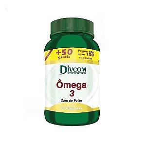 Ômega 3 Fish Oil Com 100 Cápsulas + 50 Divcom