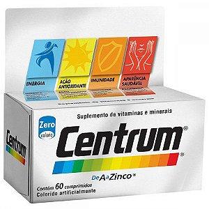 Centrum A A Zinco Com 60 Comprimidos