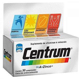 Centrum A a Zinco Com 30 Comprimidos