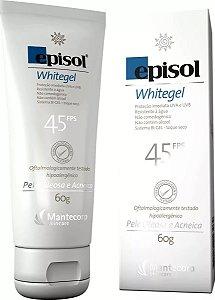 Protetor Solar Episol Whitegel Fps 45 60g Mantecorp