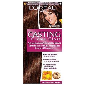 Loreal Tinta Capilar Casting Gloss Cor Chocolate Numero 535