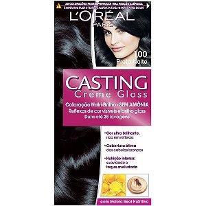 Loreal Tinta Capilar Casting Gloss Cor Preto Noite Numero 100