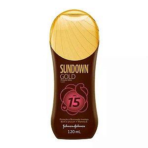 Protetor Solar Sundown Loção Gold Fps15 120ml