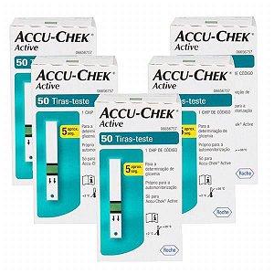 Accu-Chek Active com 50 Tiras Reagentes 5 Unidades