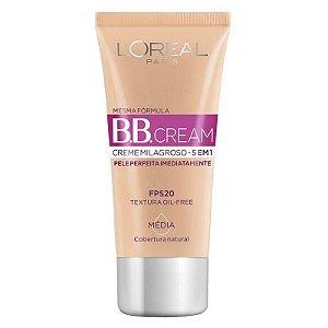 Bb Cream L'oréal Fps 20 Média 5 Em 1 30ml
