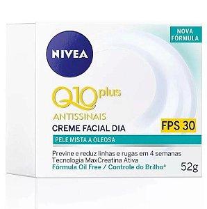 Nivea Q10 Plus Pele Mista a Oleosa Creme Facial Fps 30