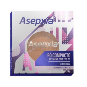 Asepxia Pó Compacto Antiacne Fps 20 Bege Médio 10g