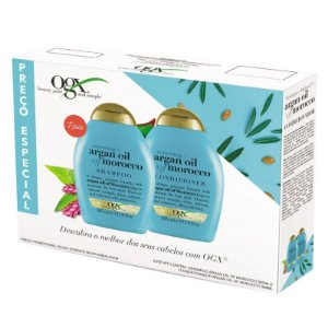 Kit Ogx Argan Oil Of Morocco Shampoo E Condicionador 385ml