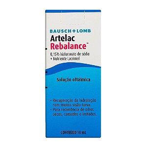 Artelac Rebalance Colírio Com 10ml Solução Oftálmica