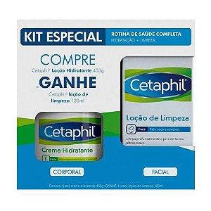 Kit Cetaphil Creme Hidratante 453g + Loção De Limpeza Facial 120ml
