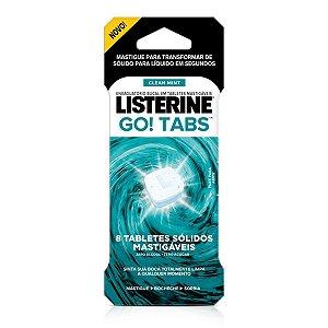 Listerine Go Tabs Enxaguante Bucal Em Tablete 8 Unidades