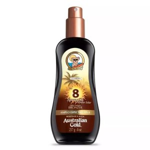Australian Gold Protetor Solar Bronzeador Fps 8 Spray Gel 237ml