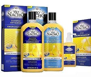 Kit Tio Nacho Engrossador Shampoo 415ml + Condicionador 415ml + Spray 415ml